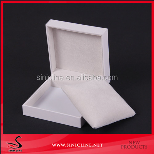 Sinicline custom white paper cardboard jewelry box small product packaging box