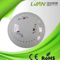 Acrylic round white color led flush mount ceiling light 12w ROHS LVD approved