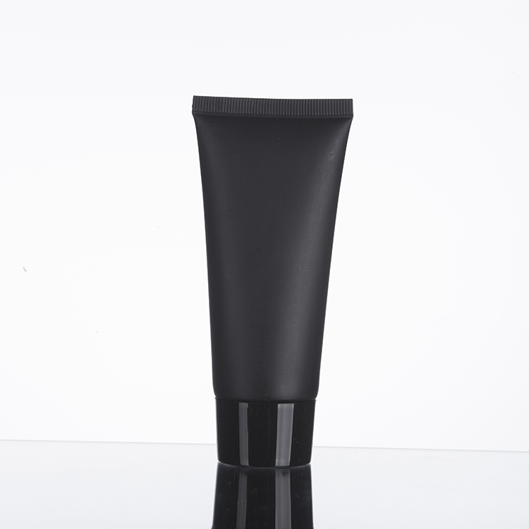 Ready to ship 60g matt black cosmetic soft <strong>tube</strong> with Black screw cap