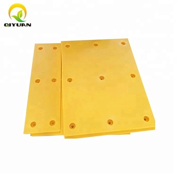 Impact resistance UHMWPE flat pad for wharf marine fender