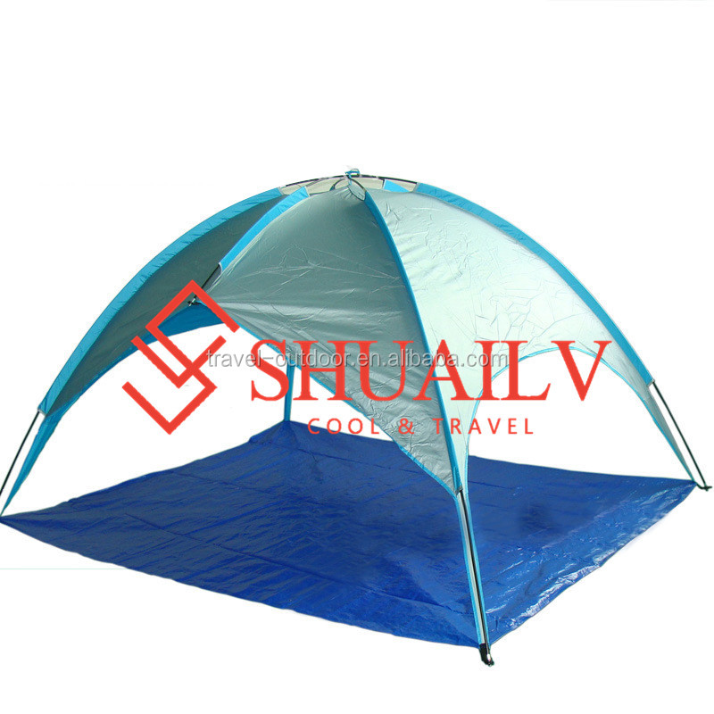 Latest Design Large Beach Tent Gazebo 3-4 People Outdoor Sun Shelter Fiberglass Portable Ultra Light Beach Tents