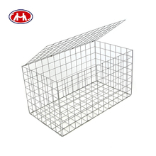 6x8 hot dipped galvanized/pvc coated/galfan filling rock hexagonal gence slope briges gabion baskets in iron wire mesh