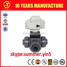 BV-SY-680 High quality pvc electric actuator/motorized pvc ball valve with best price and dimension