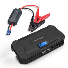 Car Jump Starter RAVPower 14000mAh Portable Battery Charger 550A Peak Current, Total 4.2A USB output, LCD Display