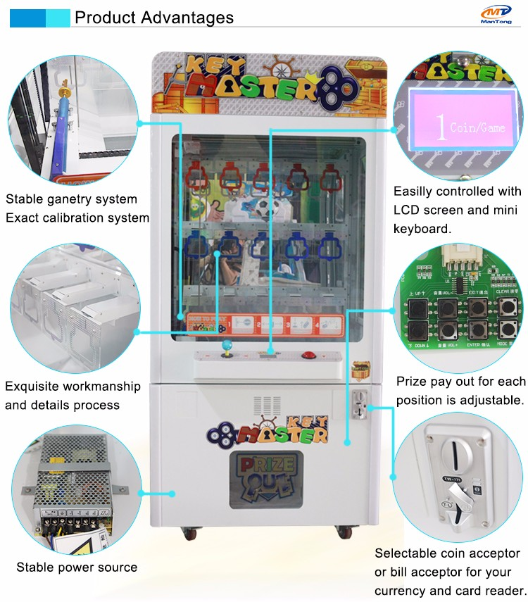 Mantong Key master/Prize game machine-2015 Popular Mini Golden Finger Prize Machine