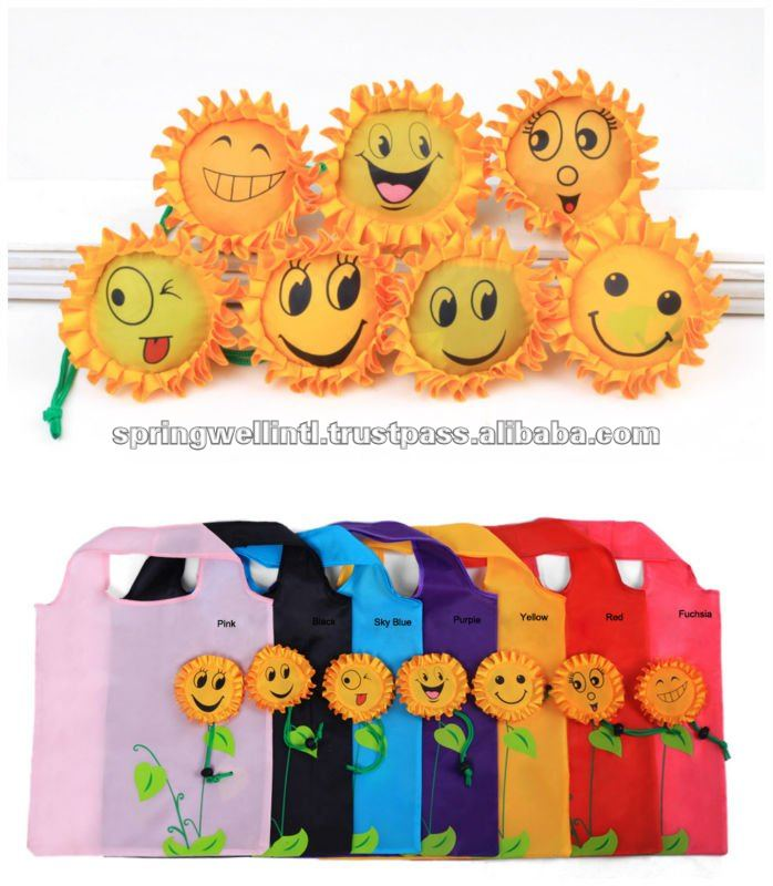 sunflower Foldable nylon Bag