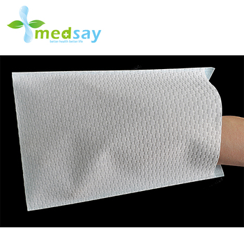 Airlaid +PE film washing glove