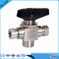 China professional manufacturer 3 way flanged ball valve