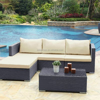 Rattan Outdoor Garden Modern Chaise Sofa