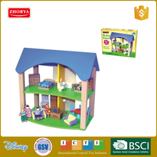 Zhorya newest style children wooden play set wooden house toys