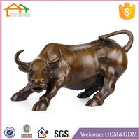 Factory Custom made best home decoration gift polyresin buffalo carving