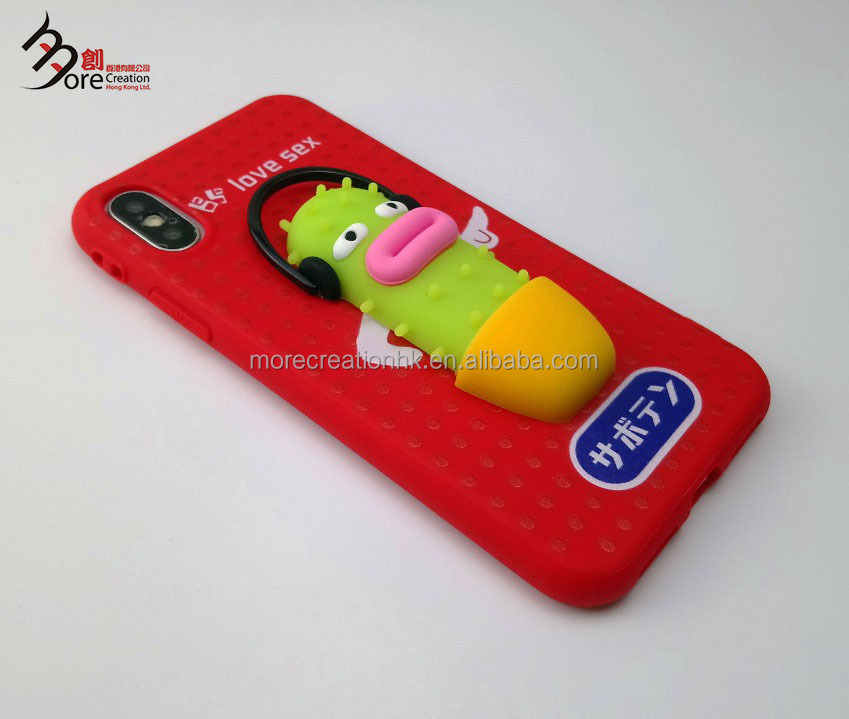 3D Finger Pinch phone case