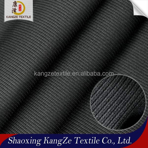 keqiao factory cheap price 92%polyester 8% spandex knit 2*2 rib cuff fabric