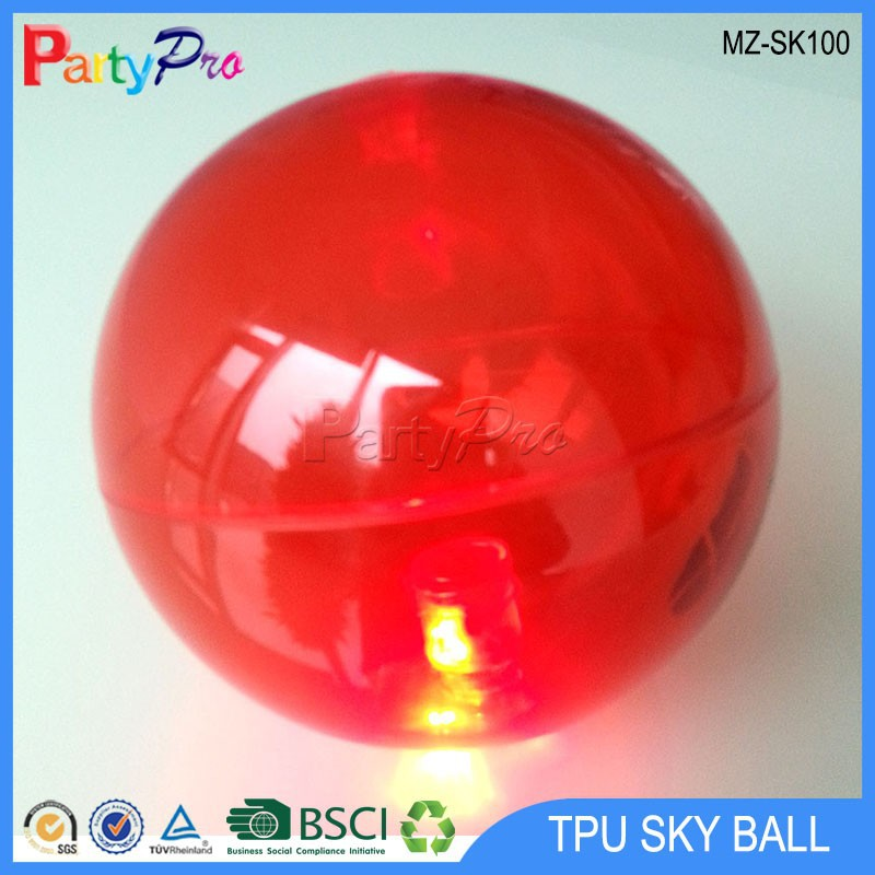2015 New Products Hot Sale TPU 45mm 55mm 65mm 75mm 85mm 100mm 110mm 150mm plastic hollow ball led bouncing ball Comet Ball