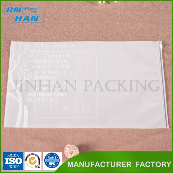 Medical Decorative Plastic Custom Size Frosted Ziplock Bag