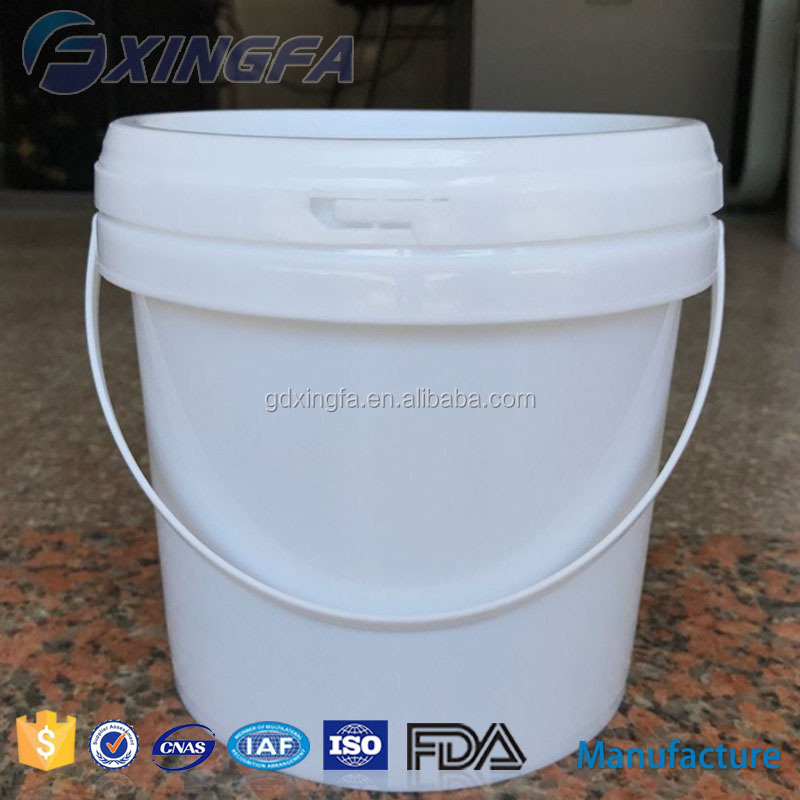 Food grade durable plastic buckets 3 litre 1 gallon for ice cream honey cookies pickle pail for latex paint for sale