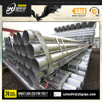 BS1387/ASTM A53 ERW round hot-dipped galvanized steel pipe galvanized pipe price