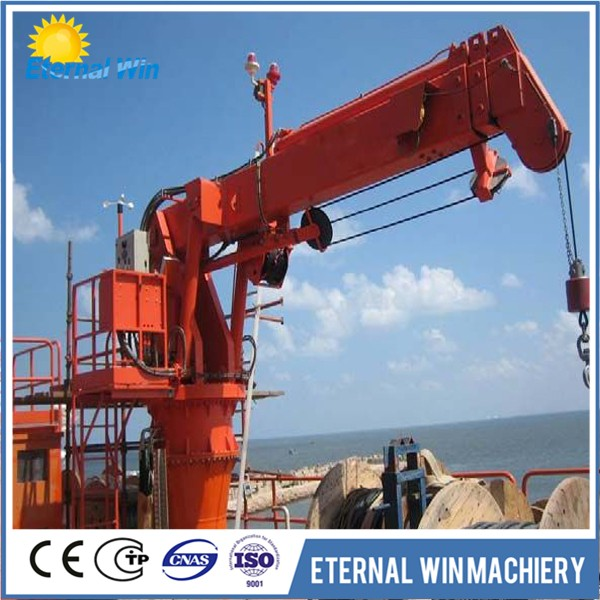 Telescopic Deck Cranes : Ton hydraulic telescopic marine ship crane buy