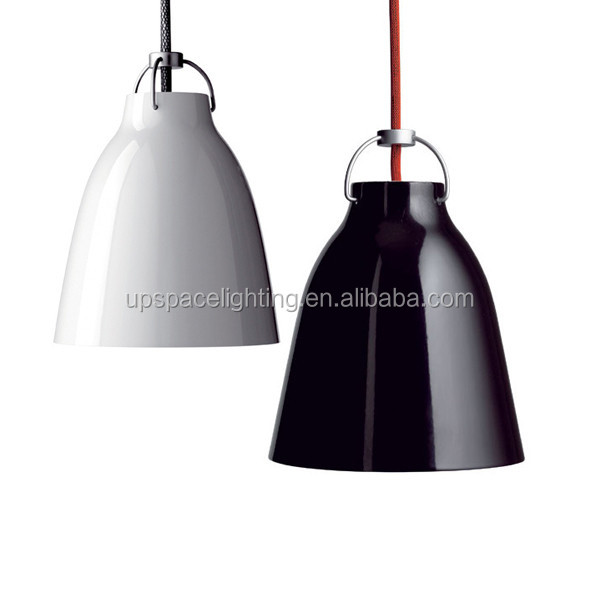 (XCP56318) modern decor pendant lights kitchen restaurant lamp, Gloss black white Caravaggio Aluminum Pendant Light