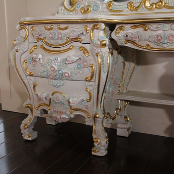 Antique furniture dressing table italy style luxury classic home furniture royal classic bedroom furniture