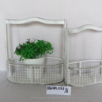 Shabby Chic Wooden Flower Pots For