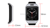Android 4.4 Kitkat OS smart wrist watch phone OEM