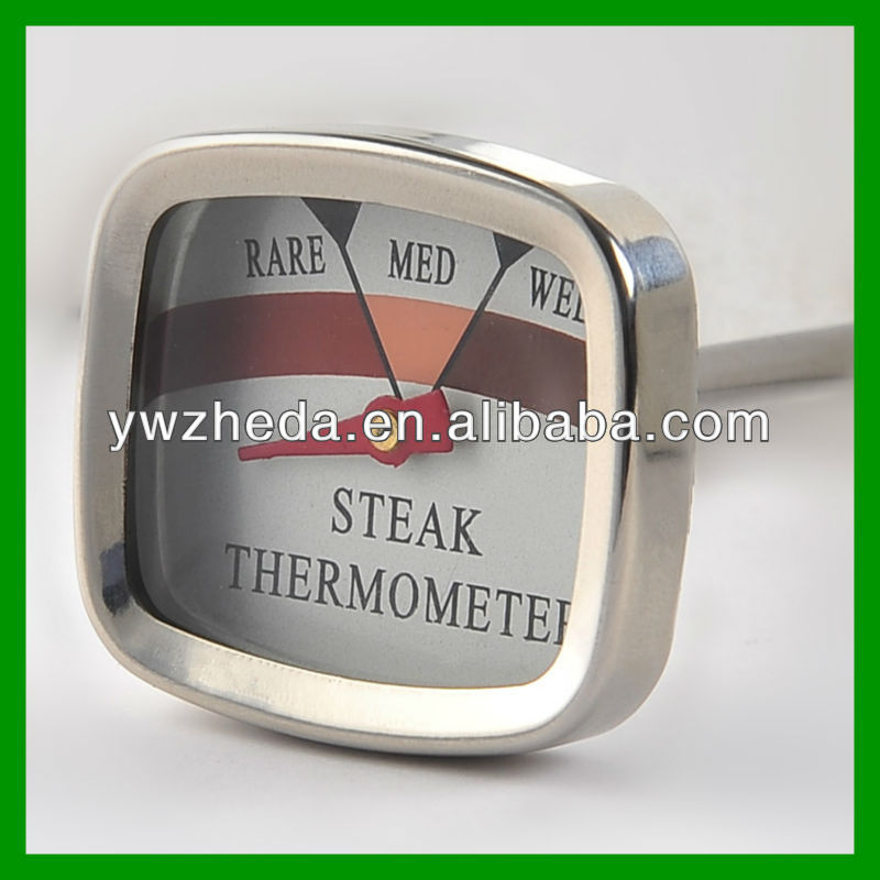 Household dial BBQ steak/beef dysmorphism mini thermometer