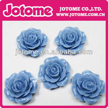 high quality flat back resin flower cabochon , Wholesale 2014 fashion resin flowers