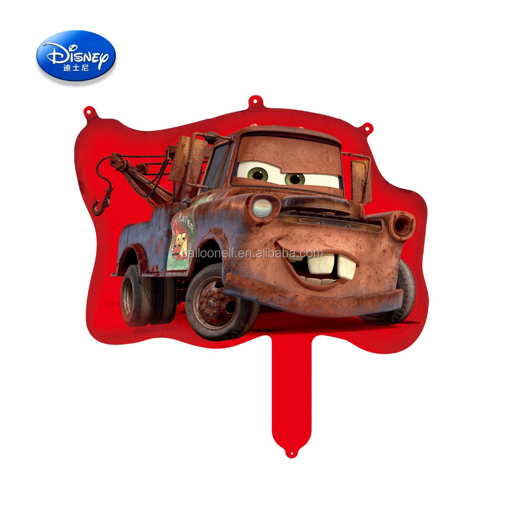 """Cars 3"" cartoon character friend of Lightning McQueen Mater tiny cheap popular balloon"