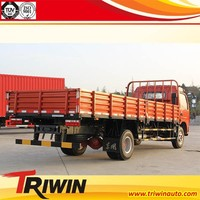 5m3 6m3 7m3 chinese discount price EURO4 125hp diesel engine 2ton 3ton light flatbed truck dimensions