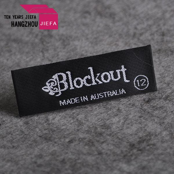 labels for clothing custom brand logo for woven label end fold