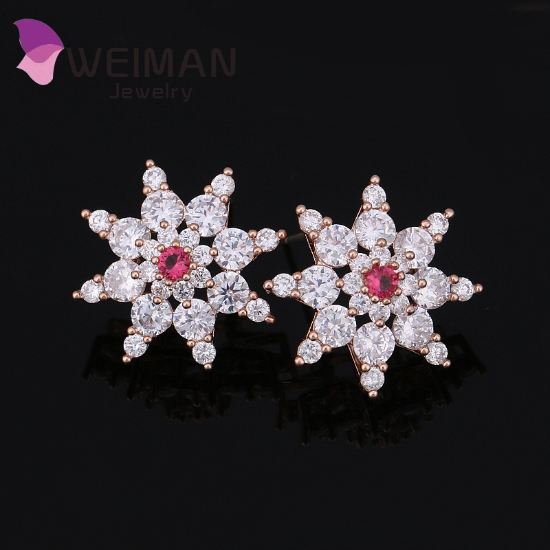 Luxurious Flower And Irregular Star Style Studs