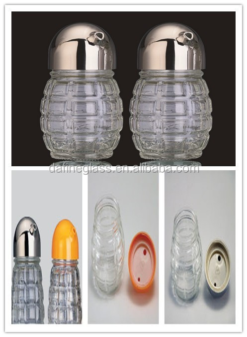 oil/soy sauce/ vinegar spice glass bottle sets with stainless steel spout