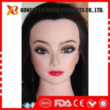 100% human hair training doll head wholesale price doll head for training
