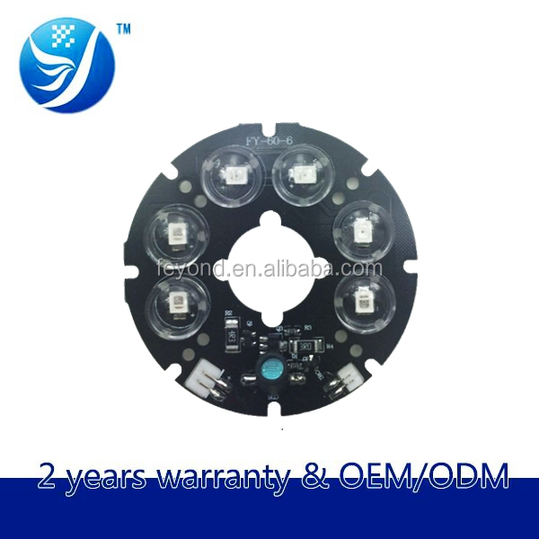 Feyond factory prices of security product 14mil 6-led Taiwan epistar chip led array aluminium board for surveillance camera