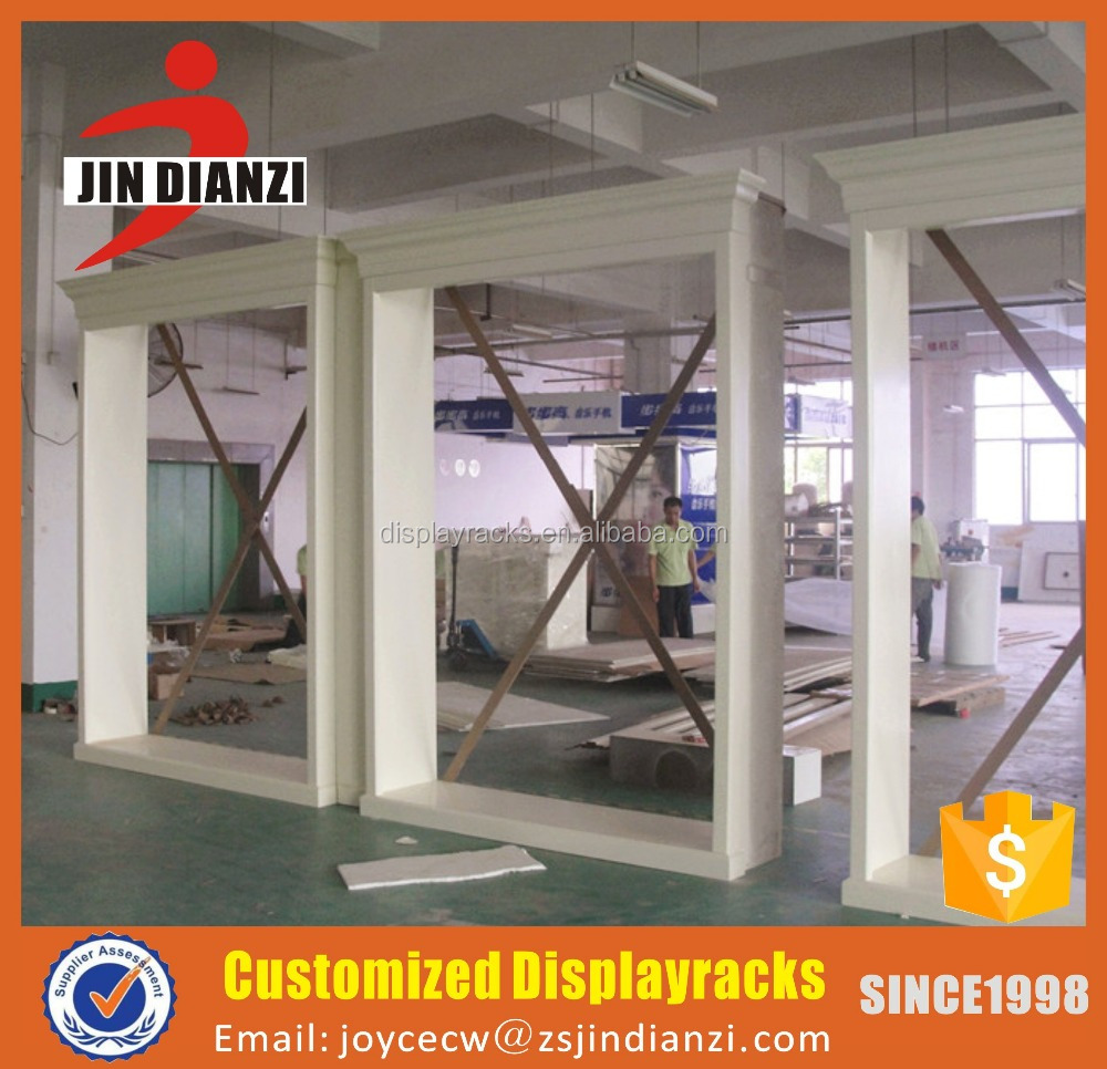 Customized wooden store front decorat outline border frame