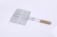 Factory stainless steel BBQ plain wire rope mesh/barbecue grill nets
