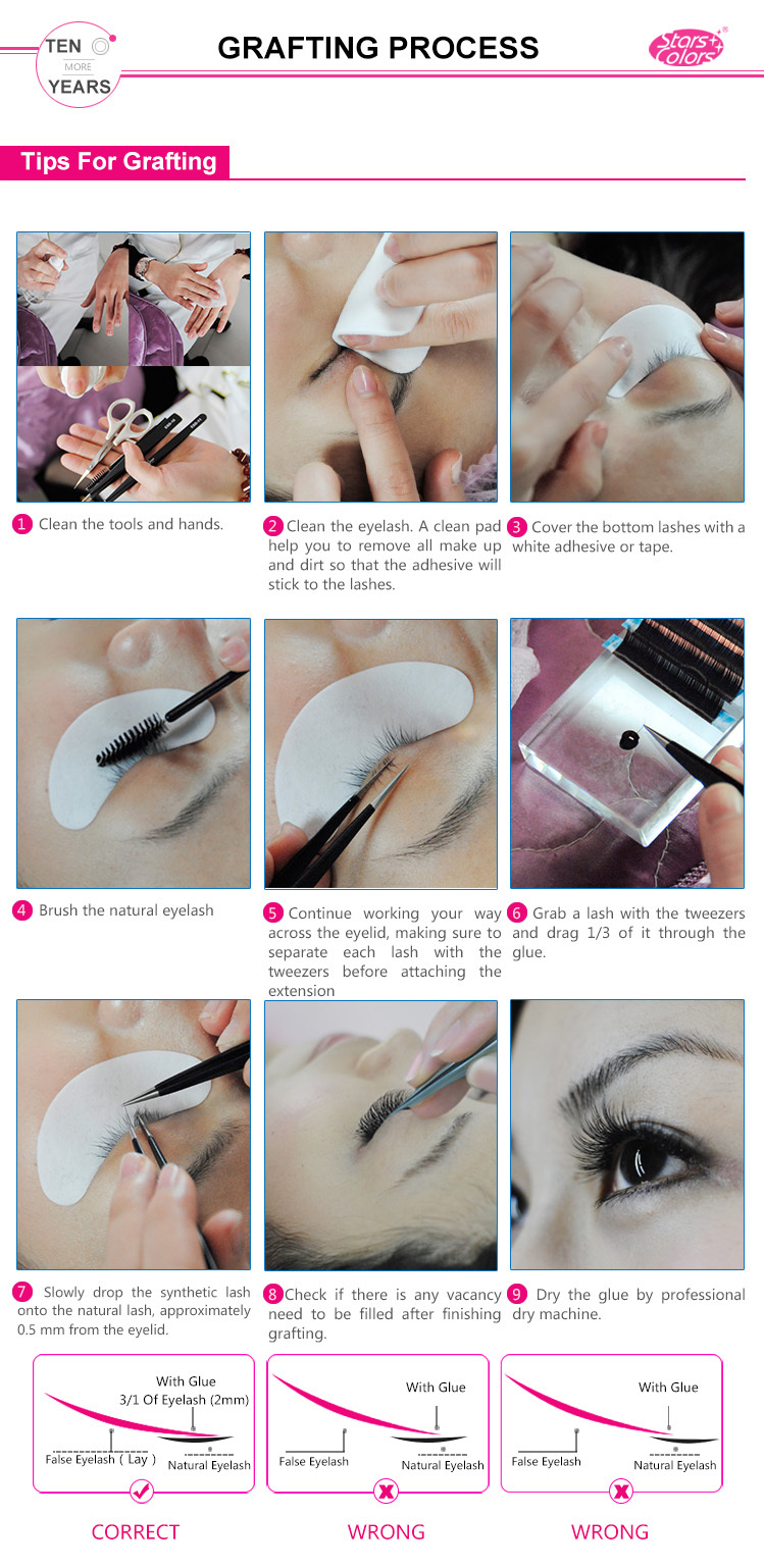 Hot sale 10D eyelash extension SC-2011
