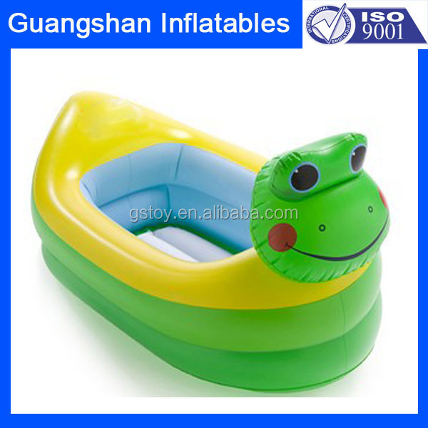 Hot Sale Frog Plastic Inflatable Bathtub For Kids