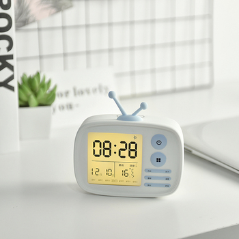 2018 Newest Modern Desktop Funny LCD Table Alarm Clock