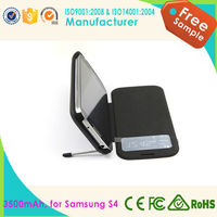 Rechargeable power supply External charger cell phone cover for Samsung Galaxy S4