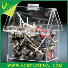 2015 Transparent Acrylic Candy Display Cases, Acrylic Food Display Cases,Small Size Food Display cases