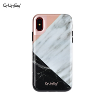 For iphone X Case TPU Soft Skin Touch Marble Series IMD Pattern Shock-Absorption Case for iphone X