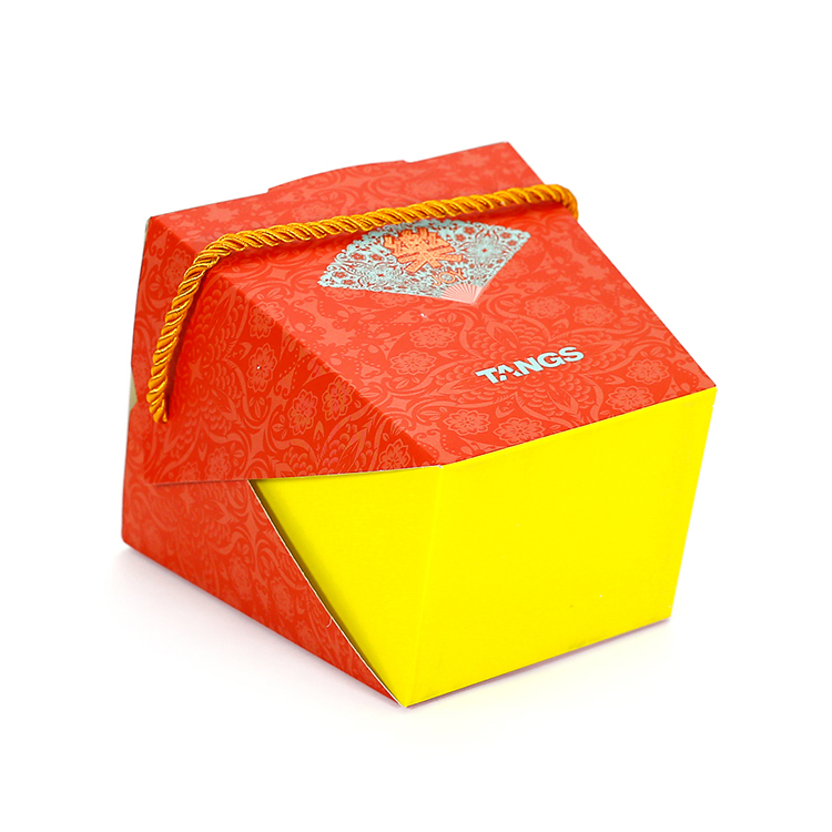 Lovely Customized Colorful printed art paper gift box for candy