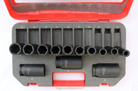 "Thin Wall Impact Socket 13PC 1/2"" Drive SAE Deep Length Tool Repair Set"