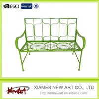 Comforatble Outdoor wood double bench seat sofa cheap wooden benches