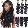 Cheap wholesale virgin vendors indian raw mink 10a human hair bundles with closure body wave