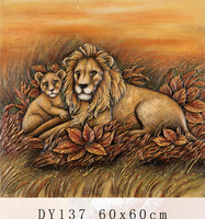 DY137 lion oil painting for home decor 3d printed animal painting