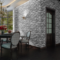 Wholesale Washable Vintage Design Easy Change 3d Brick Stone Wall Paper Peel and Stick Sticker Vinyl Wallpaper for wall covering