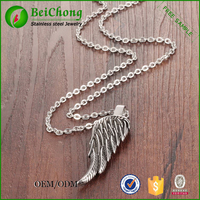 Single feather male military glowing pendants